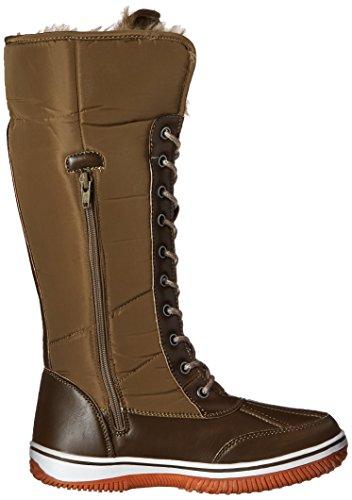 DailyShoes Up Olive Warm Eskimo Green Cowboy High Resistant Boots D'Cor Womens Zipper Knee Snow Tone 2 Water Fur waraWXzq
