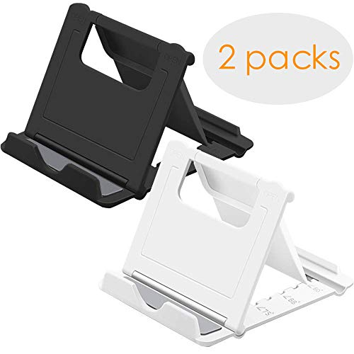 Phone Stand Portable Stand, Tablet Stand (6-10 Inches), Multi-Angle Foldable Phone Stand Holder, Adjustable Universal Phone Tablets Stand Compatible with iPhone 8/X All Cellphones E-Readers (2 Sets)
