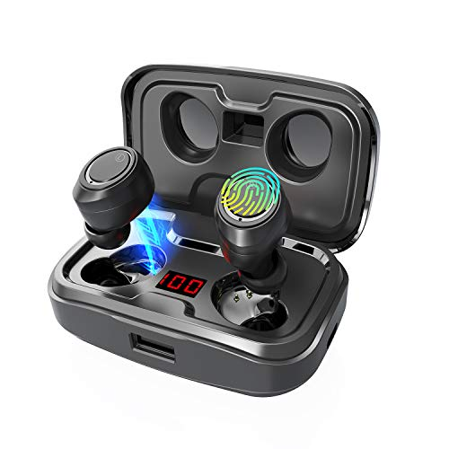 GRDE X10 TWS Wireless Earbuds, Bluetooth 5.0 Headphones 105H Playtime with 3000 mAh Charging Case [As Power Bank], Stereo Auto Pairing in-Ear Bluetooth Earphones with Mic Wireless Headset 2019 (Best Workout Earbuds 2019)