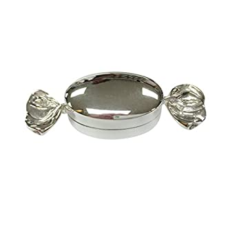 Sterling Silver Toffee Candy Pill Box