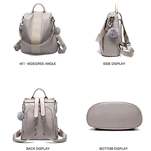 School Lightweight Shoulder Rucksack Anti Bag Nylon Backpack Purse Blue Women theft Waterproof 8qOFFH