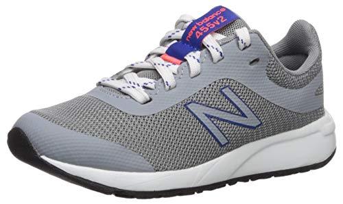 New Balance Boys' 455v2 Running Shoe, STEEL/TEAM ROYAL, 6 W US Big Kid