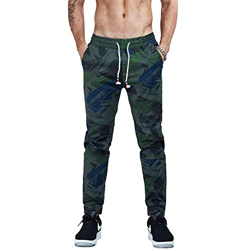 AIMPACT Camo Pants for Men Army Joggers Pants Military Trousers Cotton Fitted Twill Pants(DeepArmygreen 42)