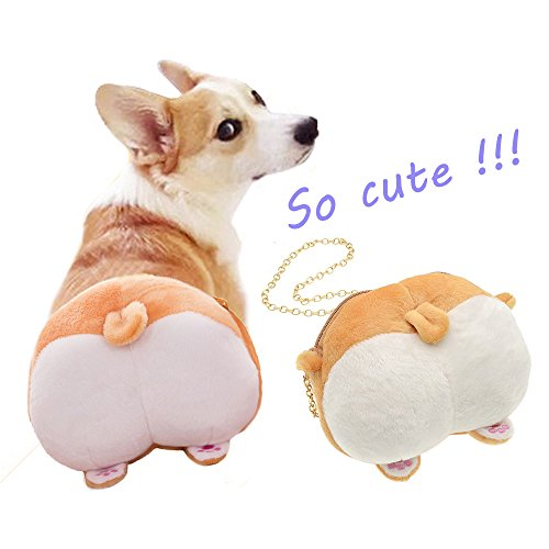 Dog Cartoon Gift Shoulder Crossbody Corgi Butt Bags Purse Women Plush for Birthday Girls HxOqdq7