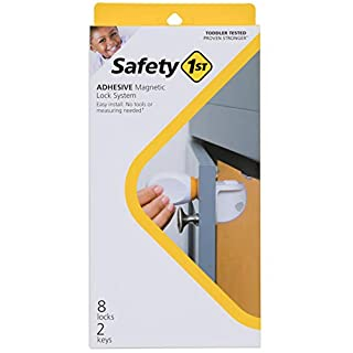 Safety 1ˢᵗ Adhesive Magnetic Lock System, 8 Locks And 2 Keys