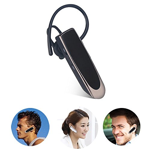 Price comparison product image Bluetooth Headphone Super Long Standby Time Wireless Bluetooth 4.0 Mini Stereo Headset Earphone Earbud Earpiece with Mic for iPhone 5s 6 6s Plus Samsung S4 S5 S6 S7 Blackberry Etc (Black)