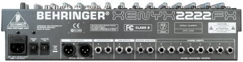 Behringer XENYX 2222 FX mesa de mezclas: Amazon.es: Instrumentos ...