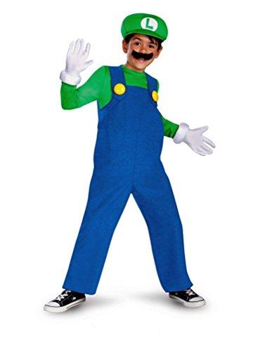 Mario and Luigi Child Costume Luigi (green & blue) - Medium