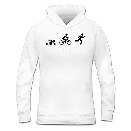 Sudadera con capucha de mujer Triathlon by Shirtcity Blanco