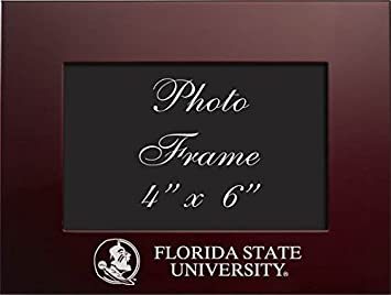 florida state university 4x6 brushed metal picture frame burgundy