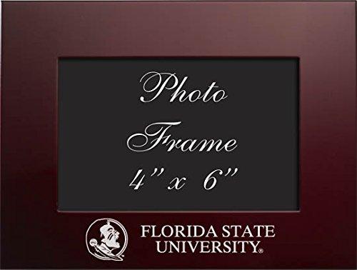 Florida State University - 4x6 Brushed Metal Picture Frame - Burgandy - Ncaa Florida State Seminoles Tabletop
