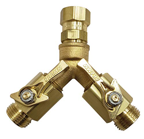 Dramm 22319 Brass Twin Shut Off Valve for sale  Delivered anywhere in USA