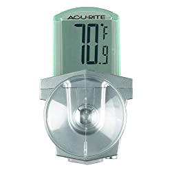 AcuRite 00799HDSBA1 00799 Digital Outdoor Window Thermometer