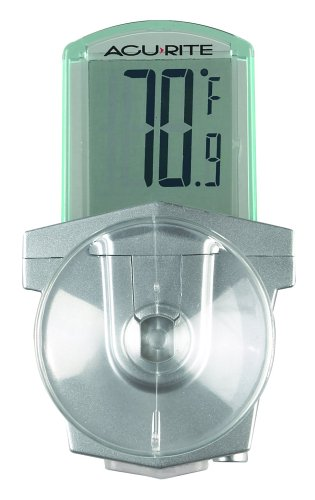 Digital Window Thermometer - AcuRite 00799HDSBA1  00799 Digital Outdoor Window Thermometer, White