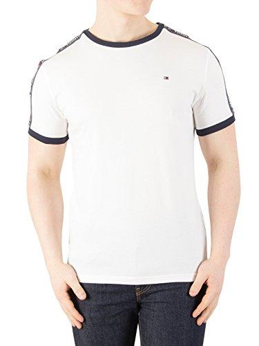 Tommy Hilfiger Men's RN T-Shirt, White, - Tommy Uk Hilfiger
