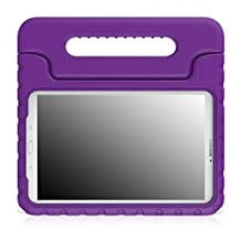 MoKo Tab E 9.6 Case - EVA Kids Shock Proof Convertible Handle Light Weight Cover for Samsung Galaxy Tab E / Tab E Nook 9.6 Inch 2015 Tablet (Fit Both WiFi and Verizon 4G LTE Version), PURPLE