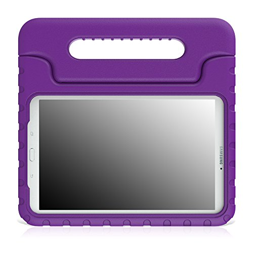MoKo Tab E 9.6 Case - EVA Kids Shock Proof Convertible Handle Light Weight Cover for Samsung Tab E/Tab E Nook 9.6-Inch Tablet (Wi-Fi and Verizon 4G LTE Version), Purple