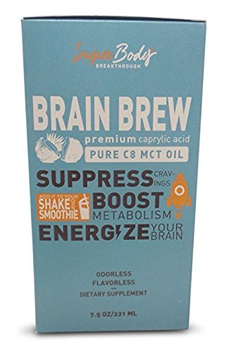 Premium C8 MCT Oil Travel Size Single Serve Brain Brew (60 Servings) 100% Caprylic Acid. No Spills. Perfect Way to have a focused and clear mind! Fat burning energy without the crash. Best MCT Oil!