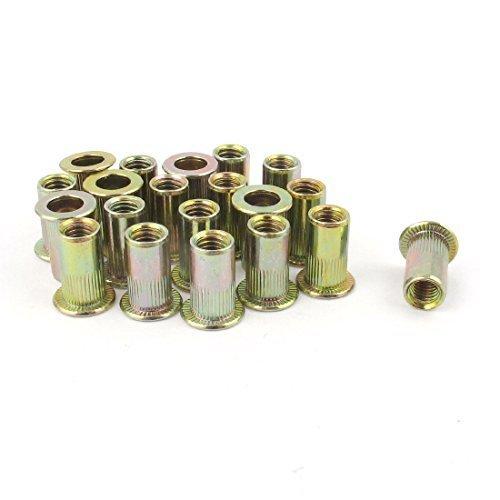 20pcs Flat Head Metric Stahl M5 Blindeinsatz Nietmutter RIVNUT, Modell: a14121200ux0028, Tools & Baumarkt