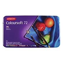 Derwent Colorsoft Pencils, 4mm Core, Metal Tin, 72 Count (0701029)