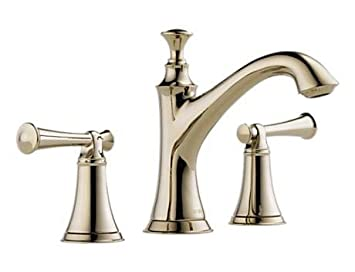 Delta 65305LF PNLHP Brizo Baliza Two Handle Widespread Lavatory Faucet  Without Handles, Brilliance Polished