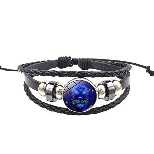 WoCoo China Element Bracelet,12 Zodiac Sign Pendant Multilayer Handmade Wristband,Best Gift for Women(G)