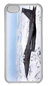 Customized iphone 5C PC Transparent Case - War Airplane 52 Personalized Cover