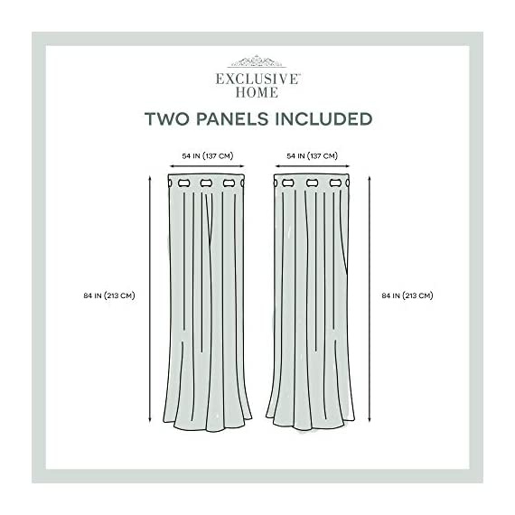 "Exclusive Home Curtains Oakdale Sheer Textured Linen Grommet Top Curtain Panel Pair, 54x84, Taupe, 2 Piece - Oakdale panels offer a natural printed motif on a sheer, textured linen look fabric Includes:  Two (2) curtain panels, each measuring:   54""W x 84""L 8 matte silver grommets per panel; inside diameter for curtain rod measures 1-5/8"" - panel sewn with 4"" heading; 3"" bottom hem - living-room-soft-furnishings, living-room, draperies-curtains-shades - 413SR twyZL. SS570  -"