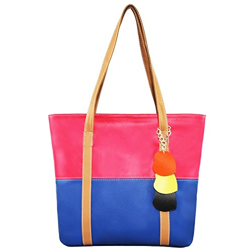 99468920fe Minch Cute Mixed Color Pu Leather Designer purses and handbags for Women  Work on clearance (rose red-mazarine) - Buy Online in UAE.