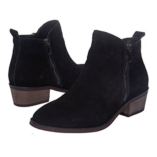 SheSole Ankle New Boots Women's Black rPrqC