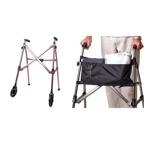 Cane Space Saver (Able Life Space Saver Walker -Regal Rose + Organizer Pouch)