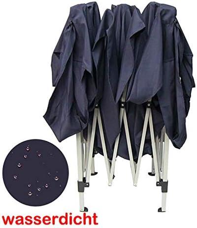 Beige 3x3M Faltbarer Pop-Up Pavillon Wasserdicht Schwerlast Metallrahmen Keine Seitenteile Partyzelt Gazebo Faltpavillon f/ür den Au/ßenbereich Camping Veranstaltung mit Tragetasche