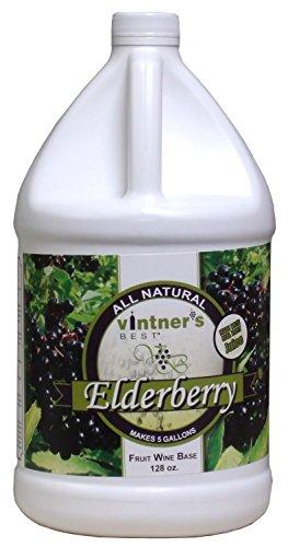 Vintner's Best Elderberry Fruit Wine Base 128 Oz (1 Galllon) by LD Carlson (Image #1)