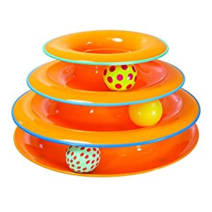 Petstages Cat Tracks Cat Toy - Fun Levels of Interactive Play - Circle Track with Moving Balls Satisfies Kitty's Hunting, Chasing & Exercising Needs 7