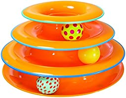 Petstages Tower of Tracks Ball and Track Interactive Toy for Cat