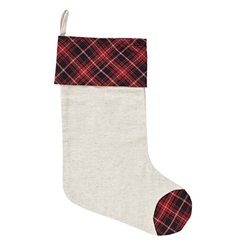 VHC Brands Holiday Decor Seasons Greetings Stocking, 15 x - Seasons Greetings Christmas Stockings