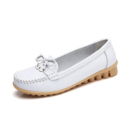 del Zapatos Guisantes oto Grandes Las Zapatos del de Zapatos o del del Primavera 2018 Arco de Madre tama Zapatos Guisante los Mujeres o de de Cuero Verano la Ocasionales Zapatos Hqw1Fn