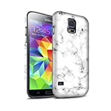 STUFF4 Matte Hard Back Snap-On Phone Case for Samsung Galaxy S5 Neo/G903 / White Design / Marble Rock Granite Effect Collection