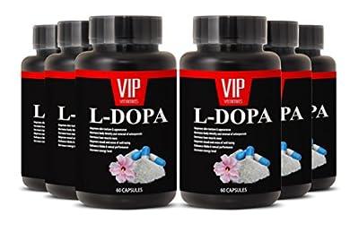 Best L-Dopa Macuna Supplement - Mucuna Pruriens Extract (6 bottles 360 capsules)
