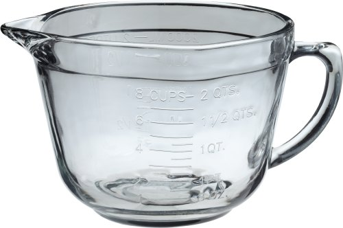 Anchor Hocking 8 Cup Measuring Cup Glass Batter Bowl with - Glass Measure