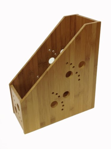 Buddy Products Bamboo Magazine Holder, 10.5 x 12 x 4.8 Inches (BB-001)