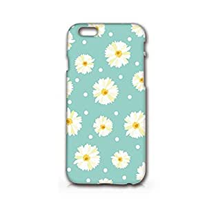 SUPERTRAMPshop - Daisy Flowers Pattern - Cover Iphone 6 Plus Full Protection Matt White Phone Case