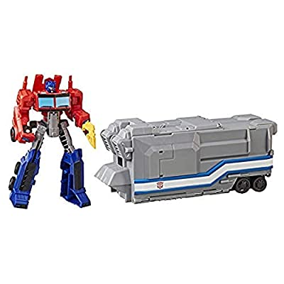 Transformers Cyberverse Warrior Class Optimus Prime with Battle Base Trailer: Kitchen & Dining