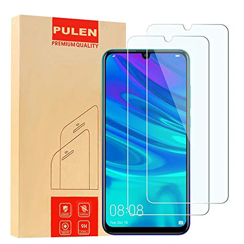 [2-Pack] PULEN for Huawei (P Smart 2019) Screen Protector,HD Anti-Fingerprints Anti-Scratch Bubble Free 9H Hardness Tempered Glass Film for Huawei P Smart 2019