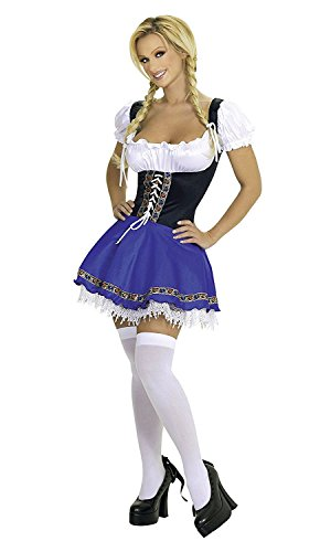 Swedish Dress (Plus Size Wench Oktoberfest Swedish German Beer Girl Sexy Fancy Dress (XXL))