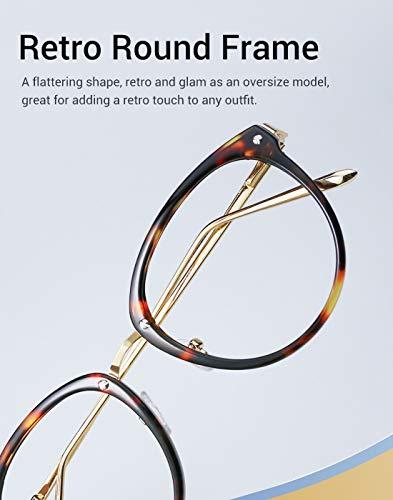 b2a31268e74d TIJN Vintage Round Metal Optical Eyewear Non-prescription Eyeglasses Frame  for Women