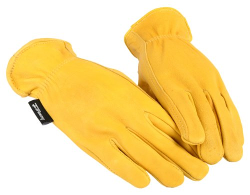 Forney 53064 Deerskin Leather Driver Premium Full Grain Women's Gloves, Medium