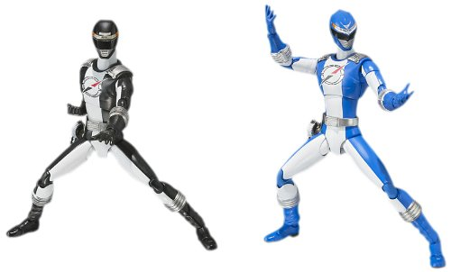 (Bandai Tamashii Nations Overdrive Ranger Power Rangers Operation Overdrive S.H.Figuarts Action Figure, Blue and Black)
