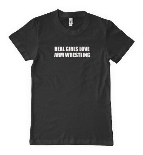 Real Girls Love Arm Wrestling Sport Hobby T-Shirt Tee Shirt Top Black M