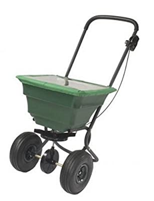 Precision Products 75-Pound Capacity Broadcast Spreader with Pneumatic Tires and Rain Cover SB4000PRCGY